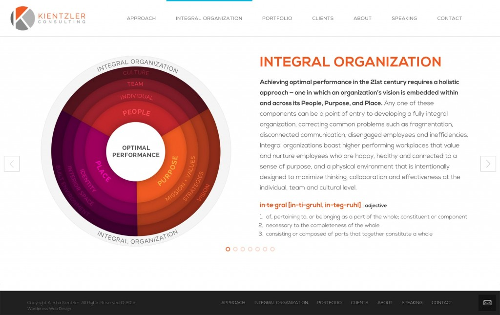 Kientzler Consulting wordpress website design