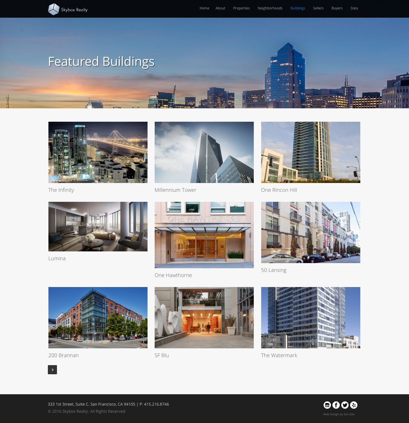 Website design for realtors skybox realty zen den web for Home design websites
