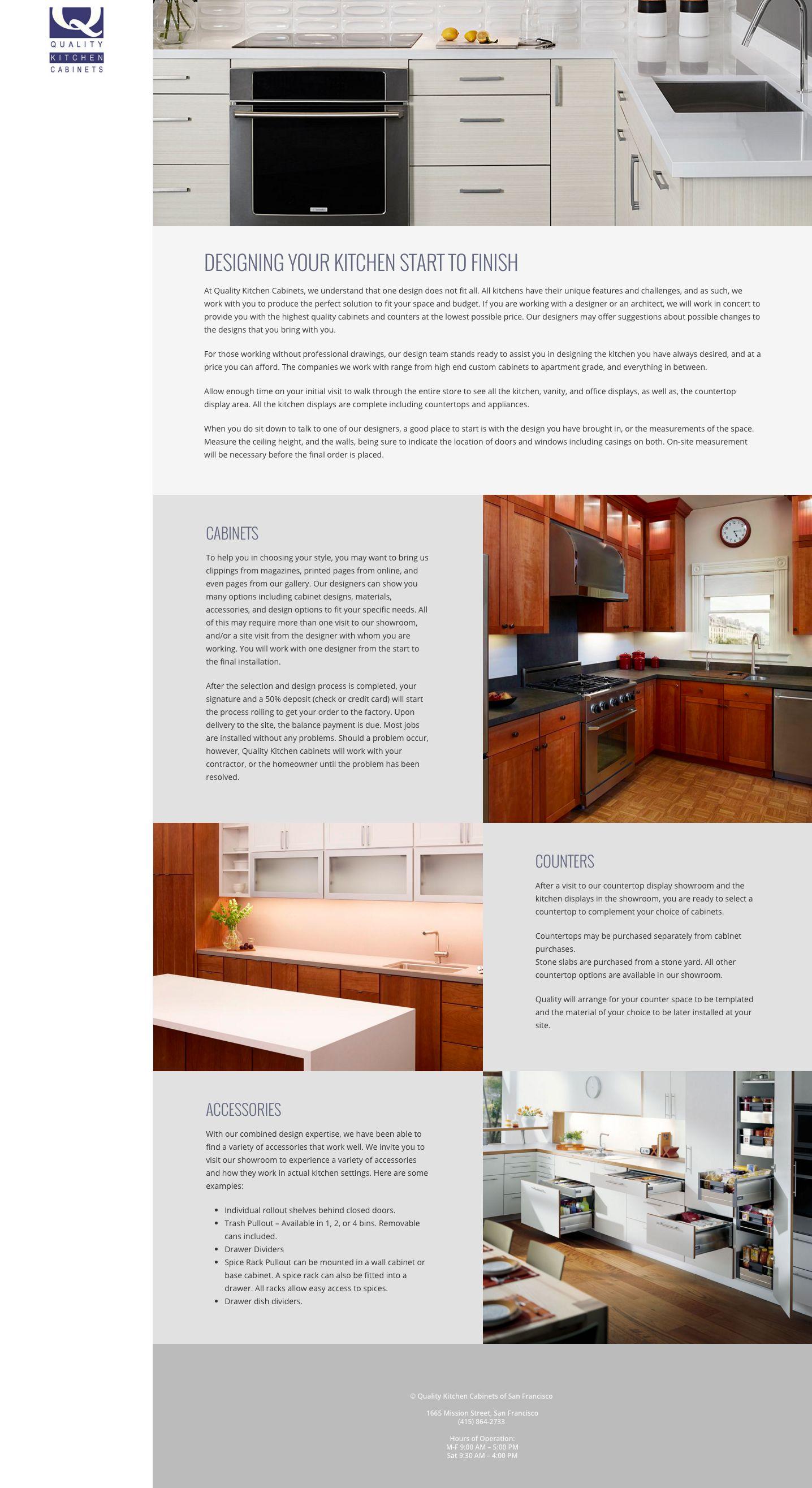 WordPress Website Design Company San Francisco Quality Kitchen  ...