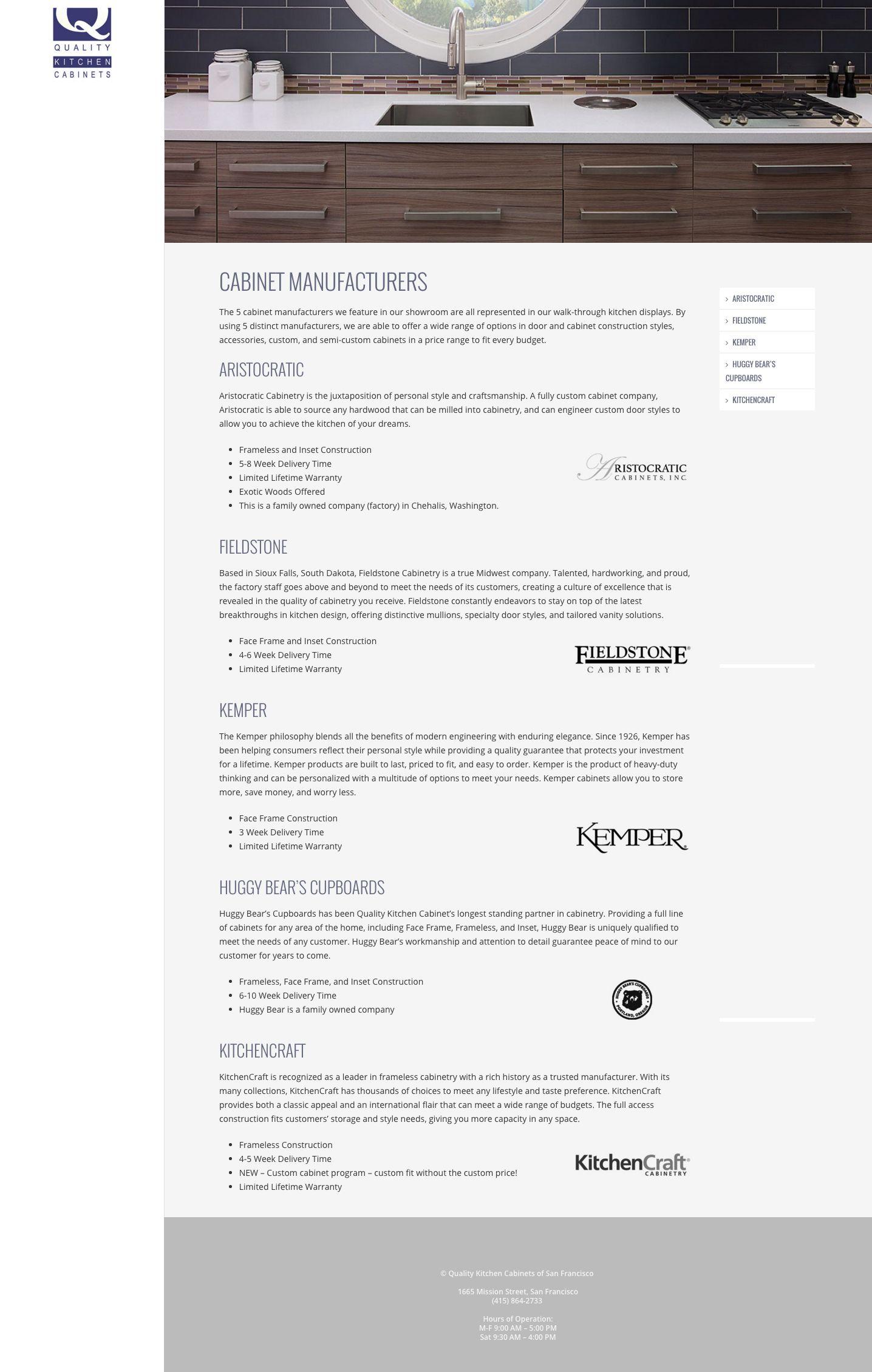 ... WordPress Website Design Company San Francisco Quality Kitchen  ...