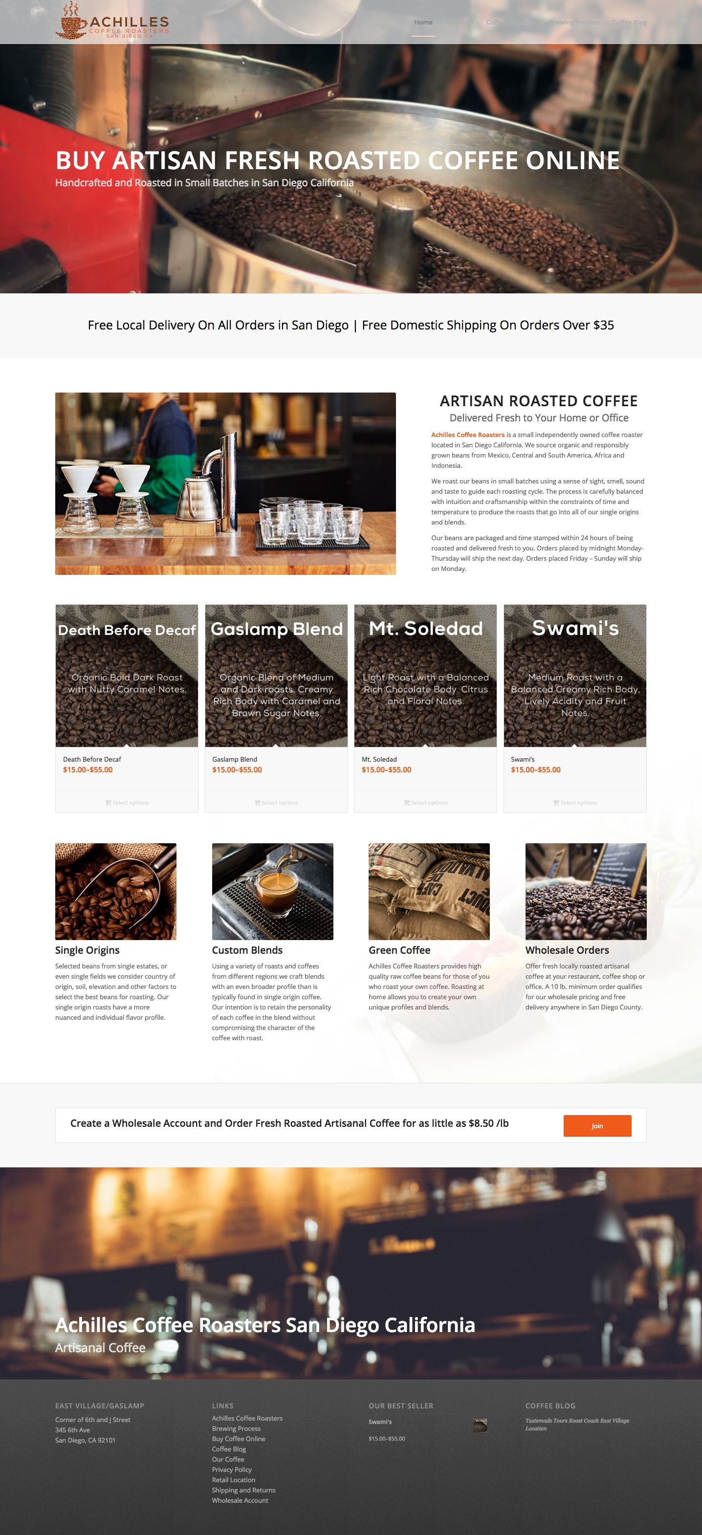 eCommerce-WordPress-Website-Design-Company-San-Francisco-Achilles-Coffee-Roasters-1