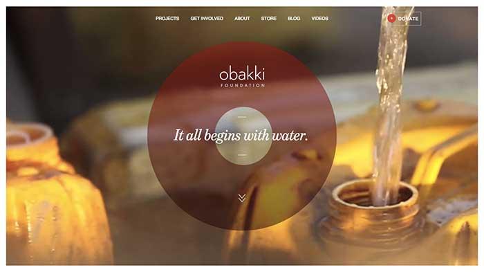 Obakki Fountation Website