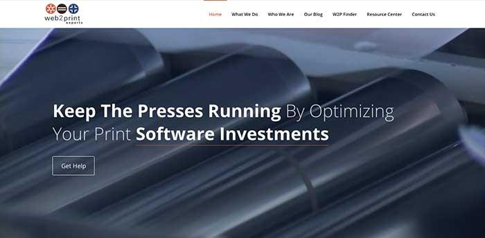 Web 2 Print Website