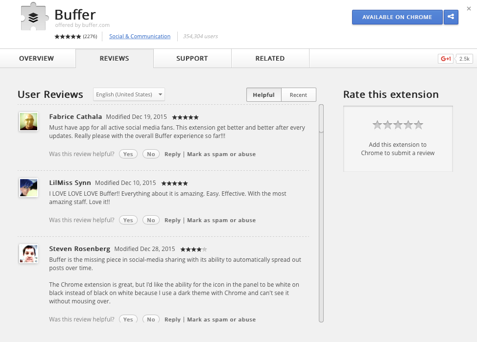 manage social media with buffer extensions