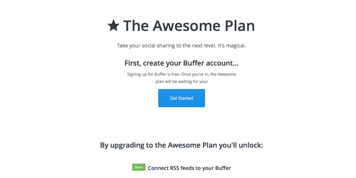 Upgrade to Awesome plan to manage social media